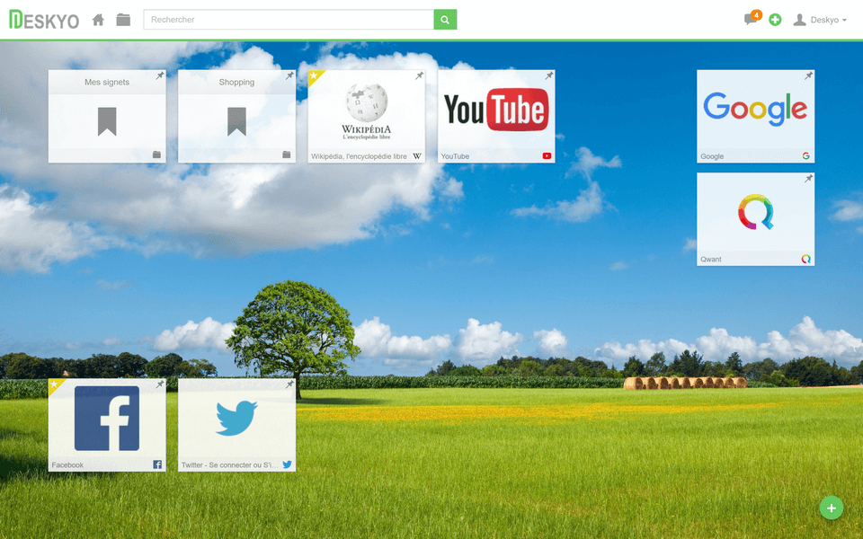 Bureau virtuel en ligne Deskyo